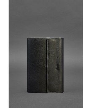 Кожаный блокнот софт-бук 7.0 черный Краст