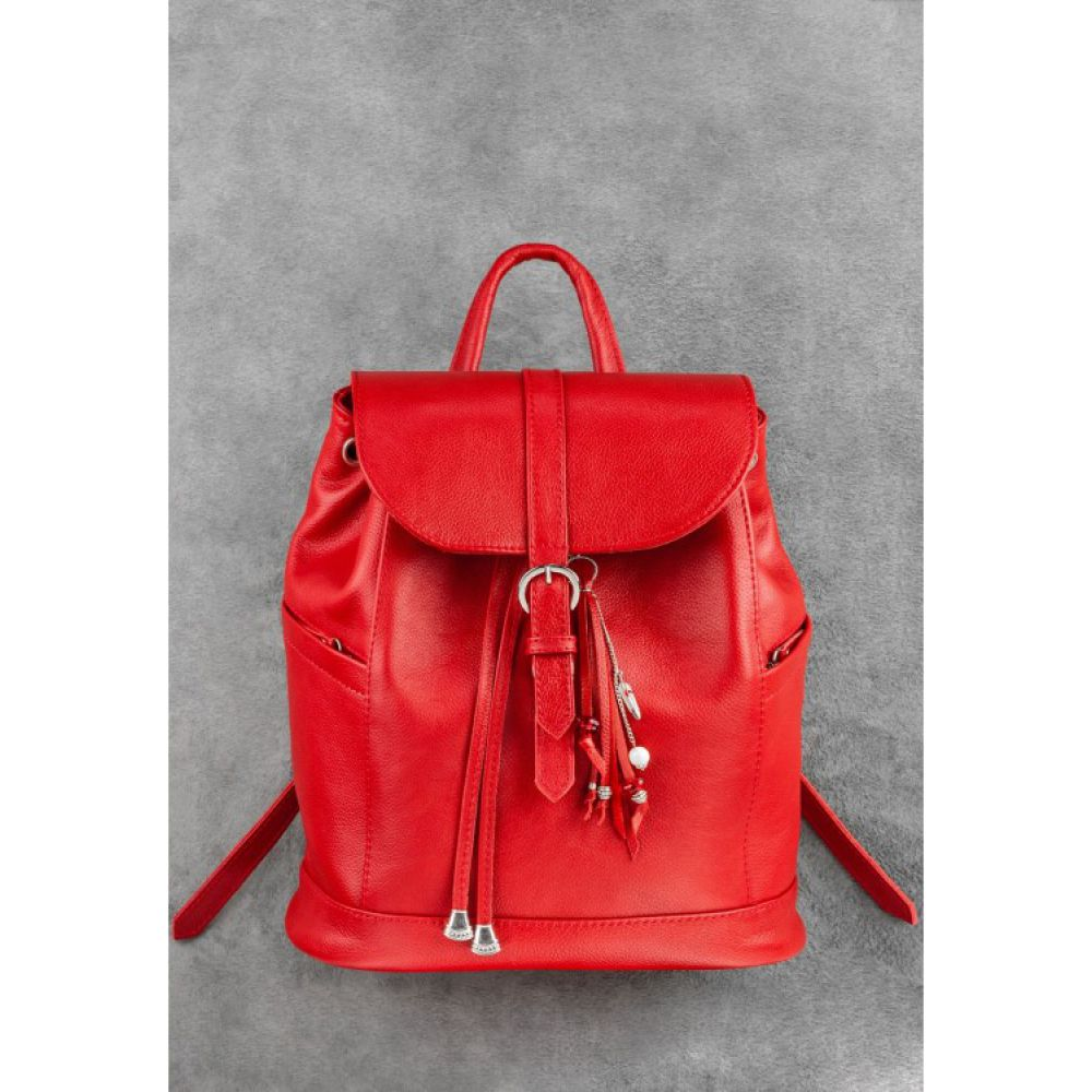 fa6dc80e3502 Кожаный рюкзак Олсен рубин - Купить женские рюкзаки в Украине, цена ...