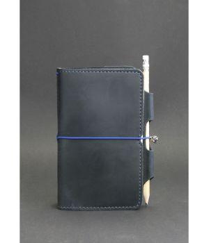 Кожаный блокнот (Софт-бук) 3.0 синий