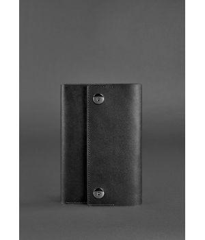 Шкіряний блокнот (Софт-бук) 5.0 чорний