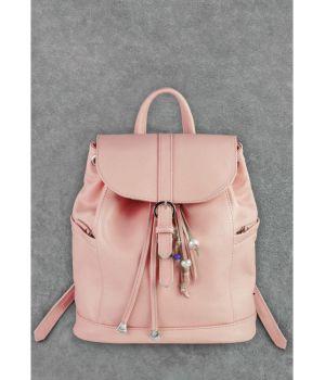 Кожаный рюкзак Олсен розовый