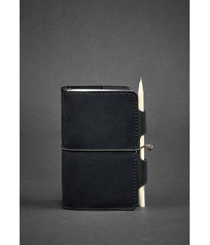 Шкіряний блокнот (Софт-бук) 3.0 чорний
