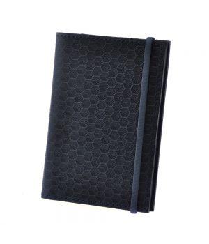 """Обложка для паспорта 2.0 """"Карбон"""" Ночное небо (КОЖА)"""