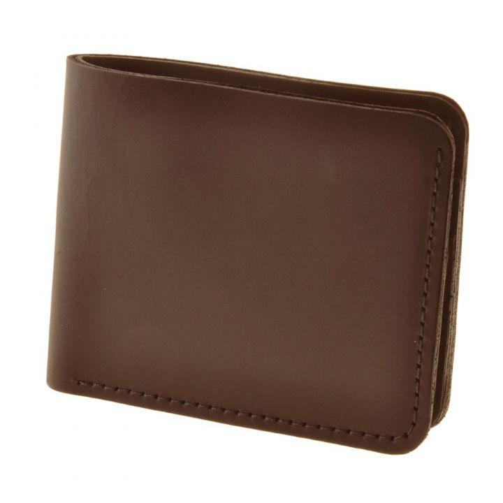 Коричневый кожаный мужской кошелек 4.1 (4 кармана) (орех, 6)