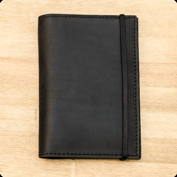 Обложка для паспорта 2.0 Графит (КОЖА) + блокнотик