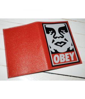 Прикольная обложка на паспорт -Obey-