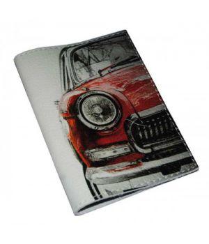 Женская обложка для паспорта -Красная машинка-