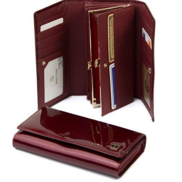 Гаманець Gold шкіра Bretton W34 wine-red