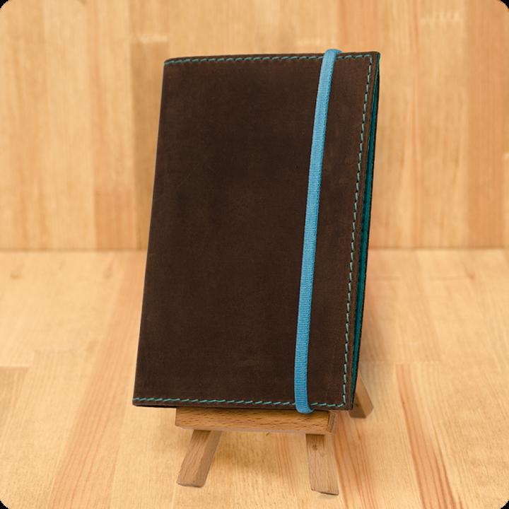 Обложка для паспорта 1.0 Орех-тиффани (КОЖА) + блокнотик
