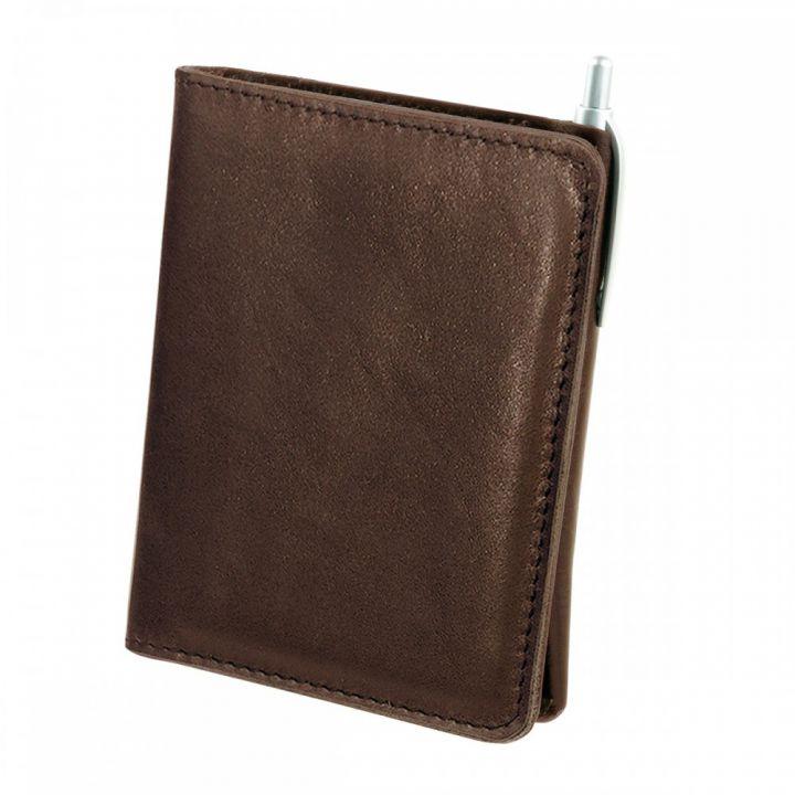 Мужское портмоне из кожи цвета Шоколад