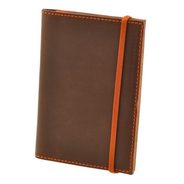 Обкладинка для паспорта 2.0 Горіх-апельсин (ШКІРА) блокнотик