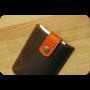 Портмоне для банковских карточек и визиток 2.0 Орех-апельсин