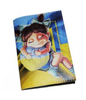 Патриотическая обложка для паспорта -Маленькая украинка-