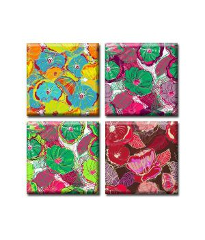 Модульные картины на холсте Glozis Flowers