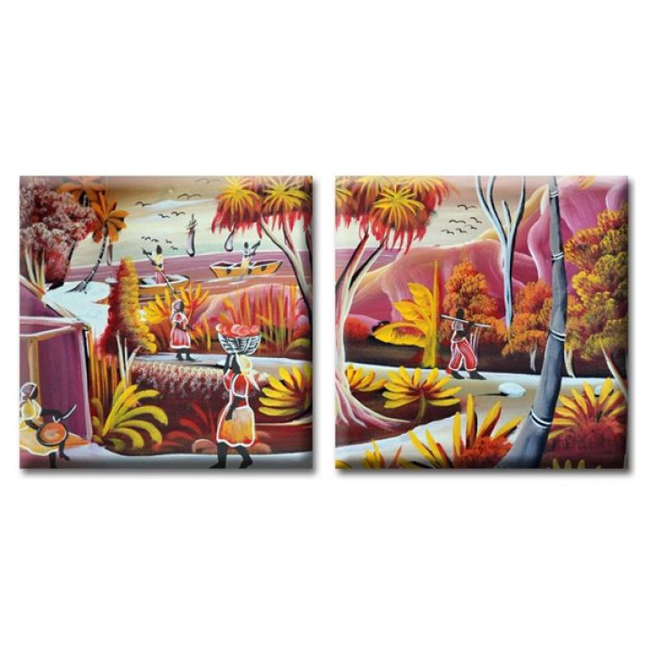 Модульные картины на холсте Glozis Exotic