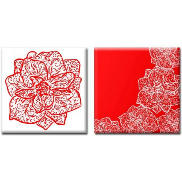 Модульные картины на холсте Glozis Orchid