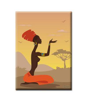 Картина на холсте Glozis African girl