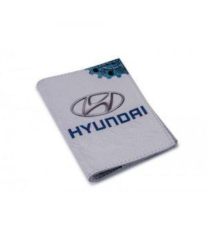 Обложка на автодокументы кожа -Hyundai-