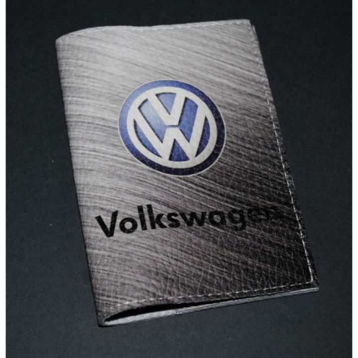 Кожаная обложка для автодокументов -Volkswagen-