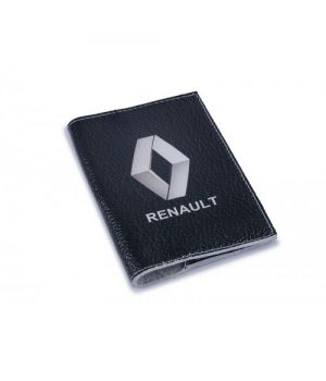 Обложка на автодокументы кожа -Renault-
