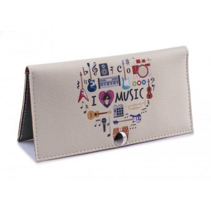 4102b0ea2432 Женский кошелек -Музыкальное сердце-. Ручная работа - Купить кожаные ...