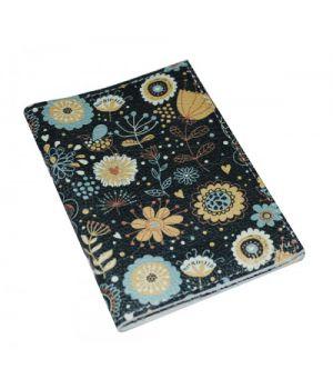 Шкіряна обкладинка для прав -Бірюзові квіти-