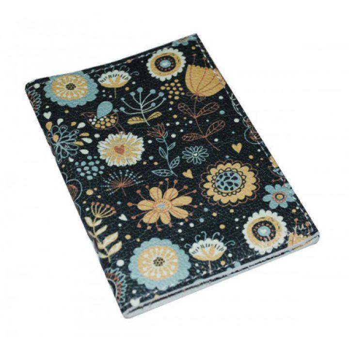 Обложка для автодокументов для женщин Бирюзовые цветы