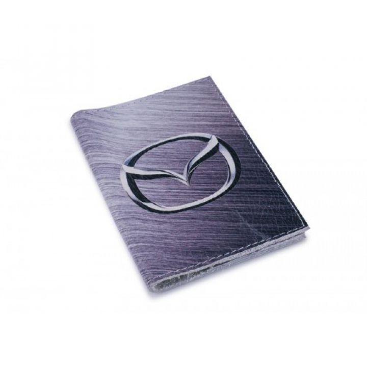 Кожаная обложка для автодокументов -Mazda-