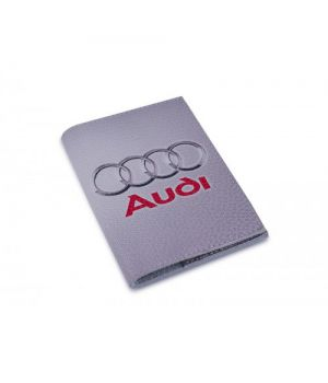 Обложка на автодокументы кожа -Audi-