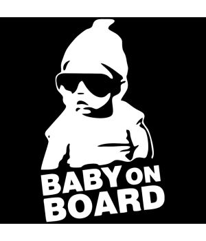 Наклейка на авто - Baby on Board v2, без фона