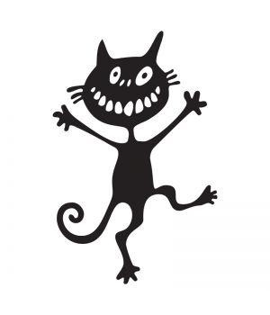 Наклейка на авто - Сумасшедший Кот, без фона