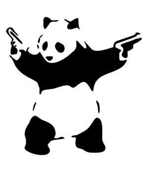 Наклейка на авто - Gangsta Panda