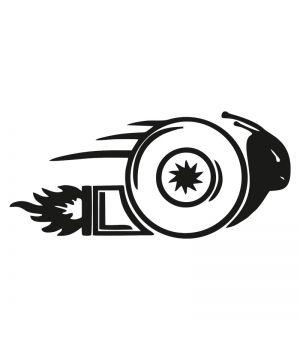 Наклейка на авто - Тубро Улитка