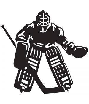 Наклейка на авто - Хоккейный Вратарь