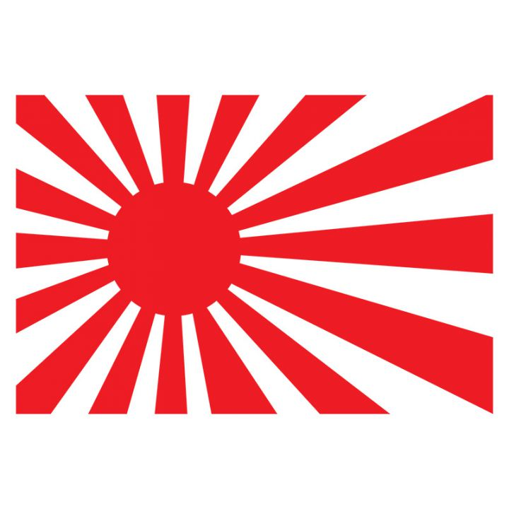 Наклейка на авто - Японский флаг