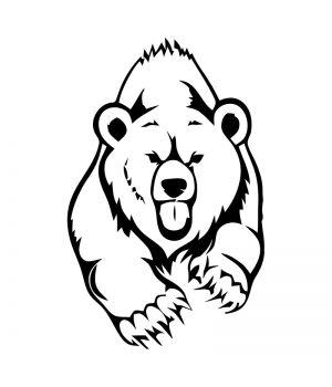 Наклейка на авто - Медведь, без фона