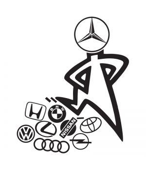 Наклейка на авто - Mercedes кращий!