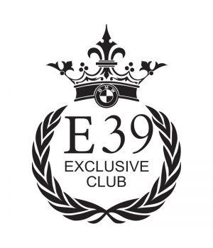Наклейка на авто - BMW E39 Exclusive Club, без фона