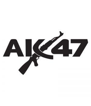 Наклейка на авто - АК 47, без фона