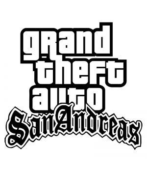 Наклейка на авто - GTA San Andreas