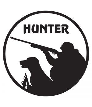 Наклейка на авто - Hunter, без фона