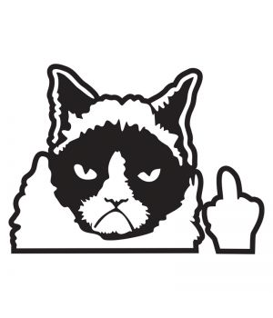 Наклейка на авто - Грустный Кот, без фона