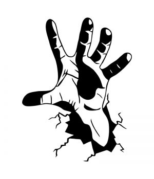 Наклейка на авто - Рука зомби
