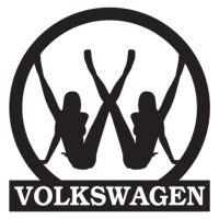 Наклейка на авто - Volkswagen, без фону
