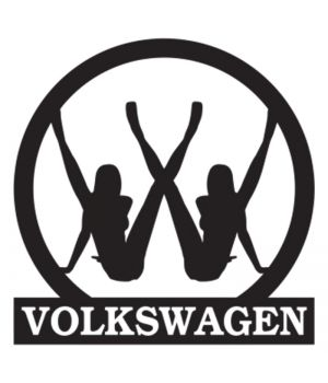 Наклейка на авто - Volkswagen, без фона