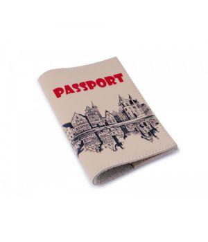 Винтажная обложка для паспорта -Винтажный город-