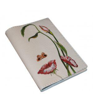 Шкіряна жіноча обкладинка для паспорта -Октавіо Окампо Ілюзії-