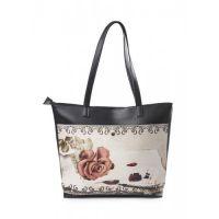 """Вместительная женская сумка """"Роза на письме"""""""