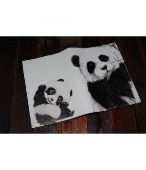 Шкіряна обкладинка для паспорта -Панда-