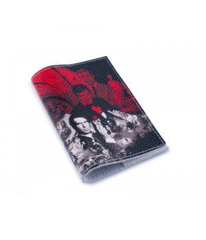 Кожаная женская обложка для паспорта -Агент 007-